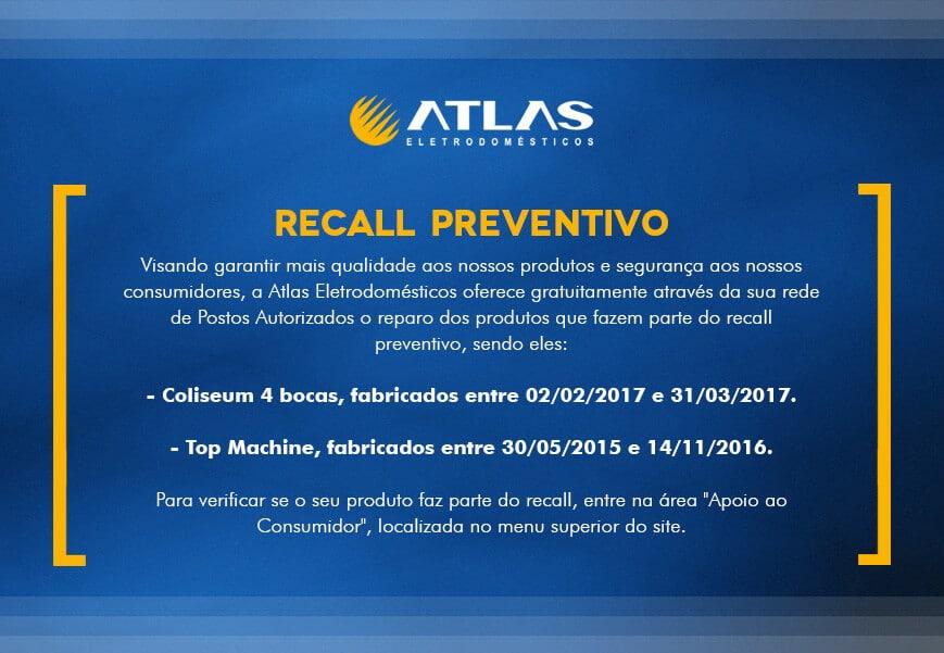 Recall Atlas Eletrodomésticos